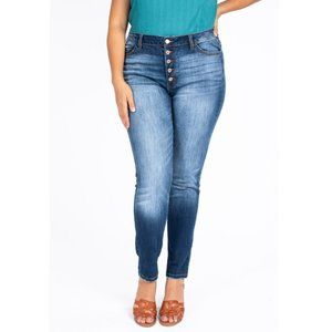 JUST IN! Kan Can Curvy High Rise Skinny Jeans